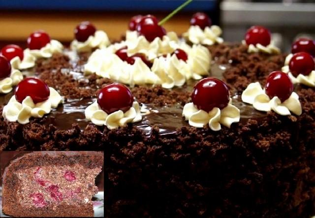 Справжній торт «П'яна вишня»