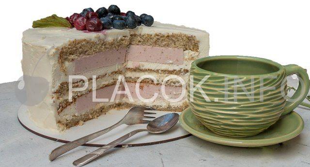 Бісквітний торт з сирним кремом + відео