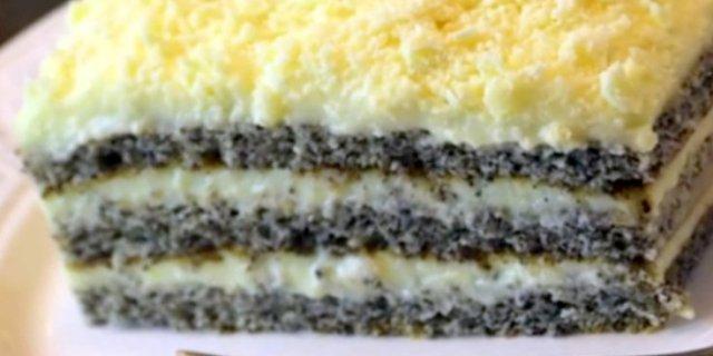 Маковий торт Цариця Естер