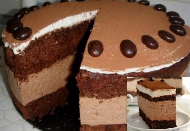Рецепт мусового торту з шоколадом