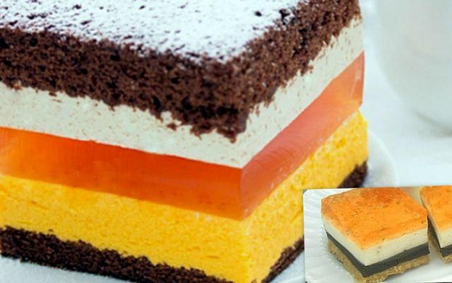 Смачний пляцок з апельсиново-кавовим кремом