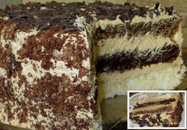 Смачний торт «Три насолоди»